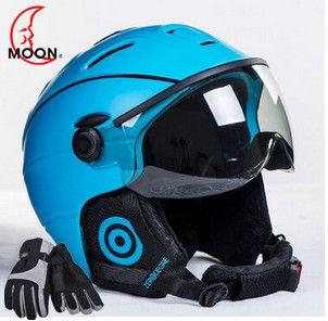 Moon очки Лыжный спорт шлем интегрально-литой PC + EPS ce сертификат горнолыжный шлем открытый спортивный Лыжный сноуборд скейтборд