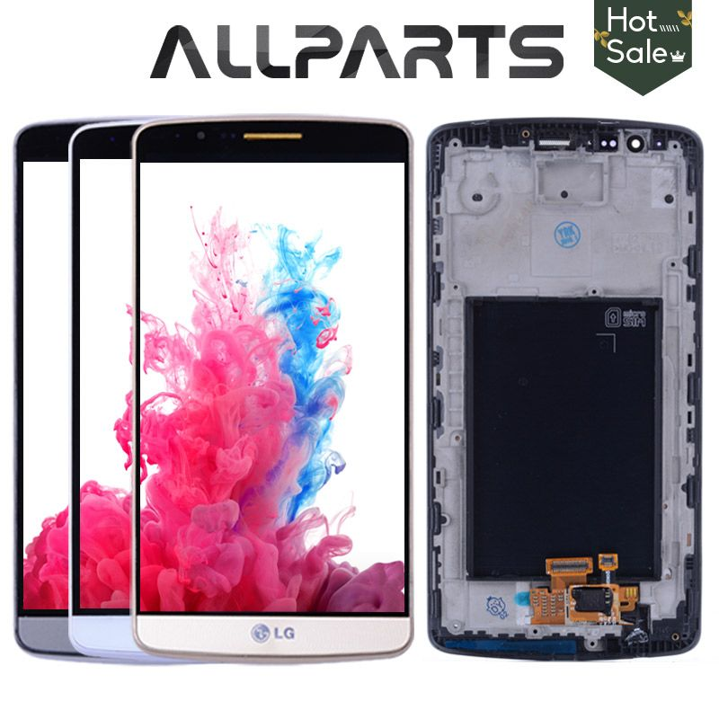 ORIGINAL 5.5 Screen for LG G3 LCD Touch Screen Digitizer Assembly for LG G3 Display D850 D851 D855 Replacement