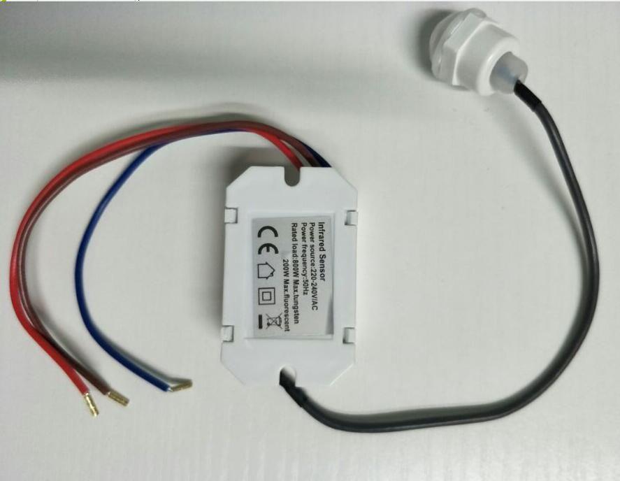 Nouvelle Haute Qualité AC 220 v Infrarouge PIR Détecteur De Mouvement IR Pour L'ampoule MENÉE 800 w Max