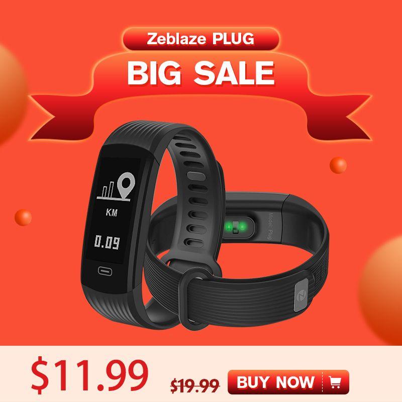 Super Discount Zeblaze Plug Wristband Smart Eletronic Bracelet Realtime Heart Rate Sleep Monitor Activity Fitness Tracker Band