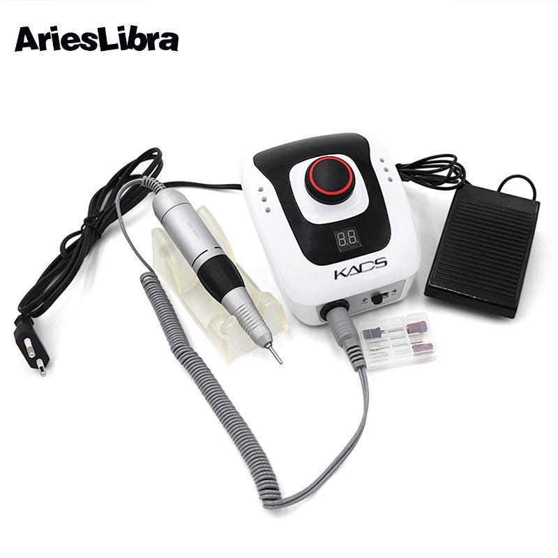 AriesLibra Electric Nail Drill Machine Electric Manicure Machine Drills Accessory Pedicure Kit Nail Drill File Bit Nail Tools
