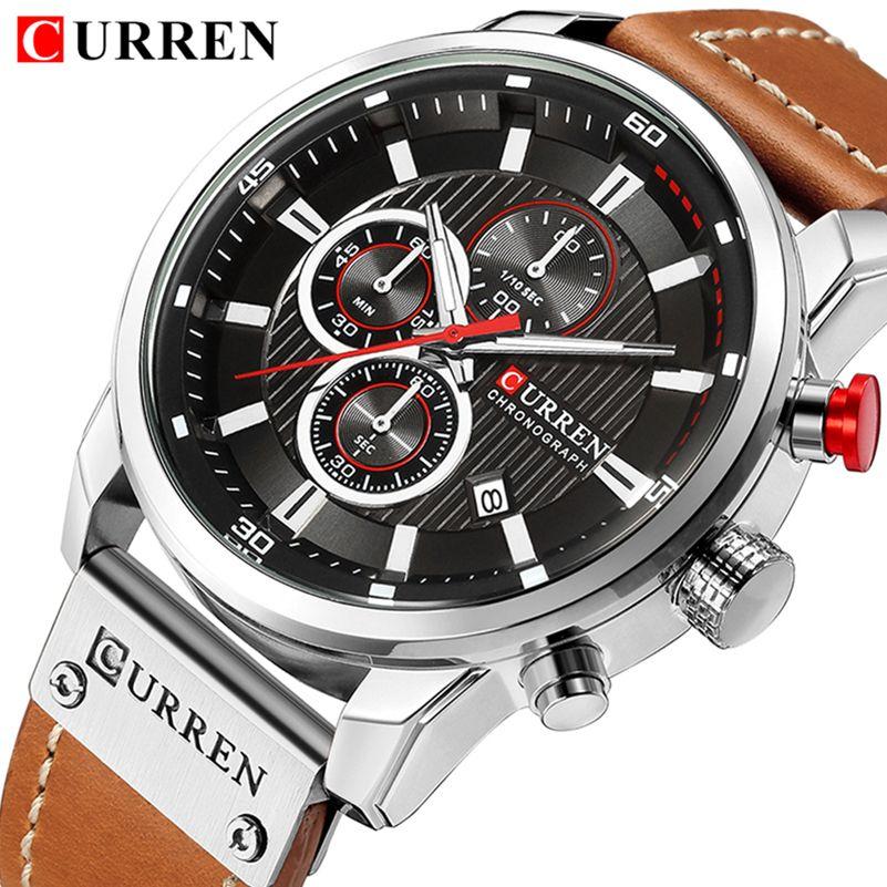 CURREN Top Brand Watches Men Quartz Analog Military Male Watch Men Fashion Casual Sports Army Watch Waterproof Relogio Masculino