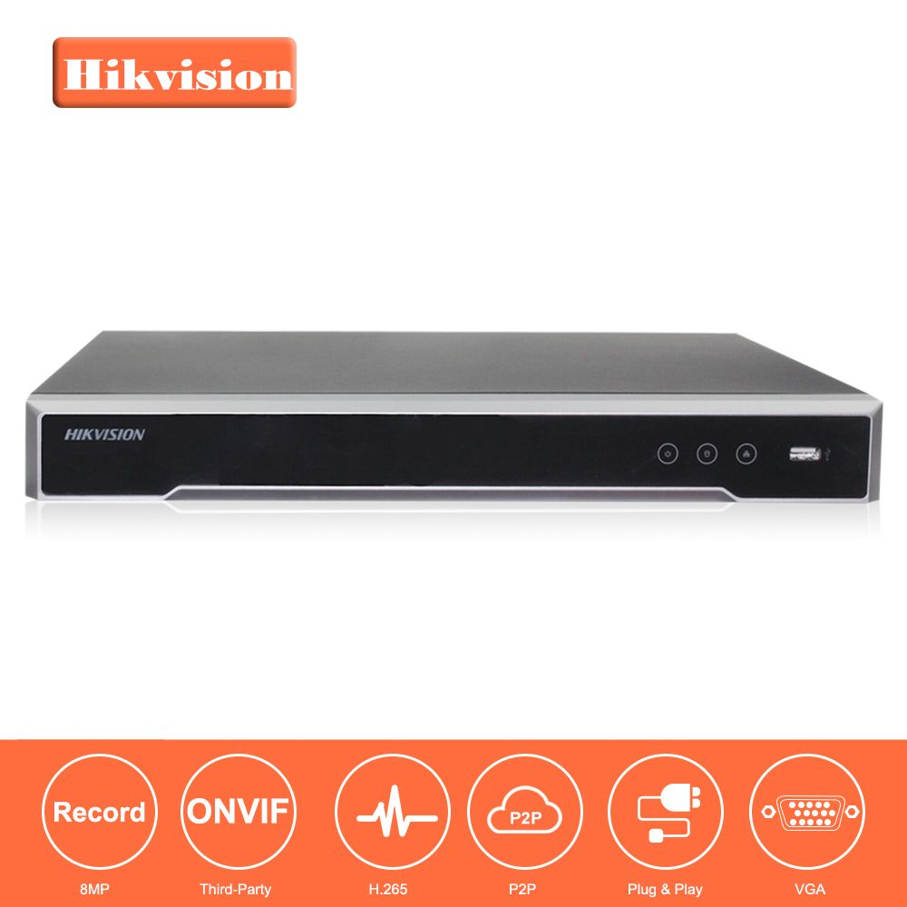 Hikvision 8/16 CH CCTV System DS-7608NI-K2/8P & DS-7616NI-K2/16 Embedded Plug & Play 4K NVR with 2 SATA Interfaces 8 POE Port