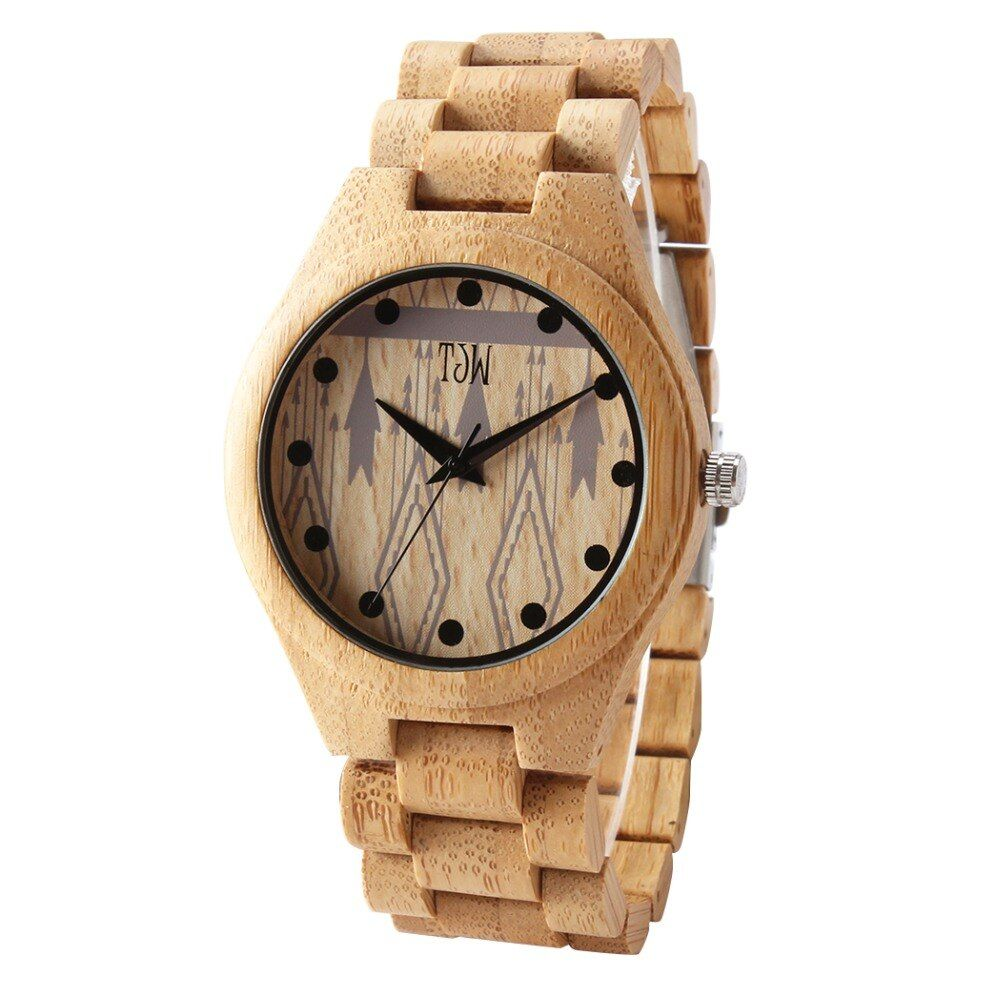 TJW 2018 fashion trend wooden watch men's watch casual fashion watch private custom