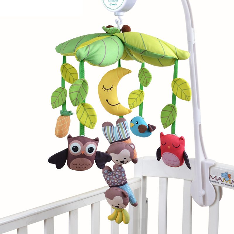 Baby Toys 0-12 Months for a stroller Bed Stroller Hang Bell Stuffed Hanging Toys Plush Musical Crib Baby Mobile Educational Gift