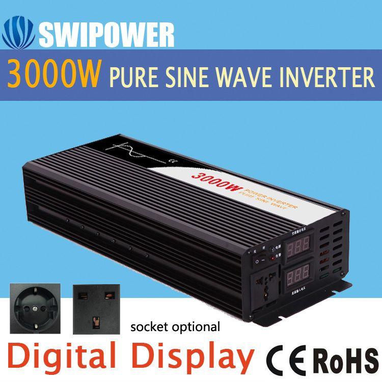 Reine sinus welle inverter 3000 watt neue DC 12 v 24 v 48 v zu 110 v 220 v auto solar power inverter