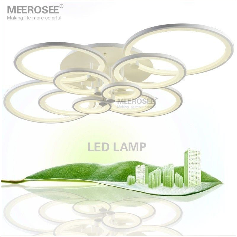 White LED Chandelier Lustre Light Large LED Ring Lamp Fixture Flush Mounted LED Circles Lamp for dining sitting bedroom