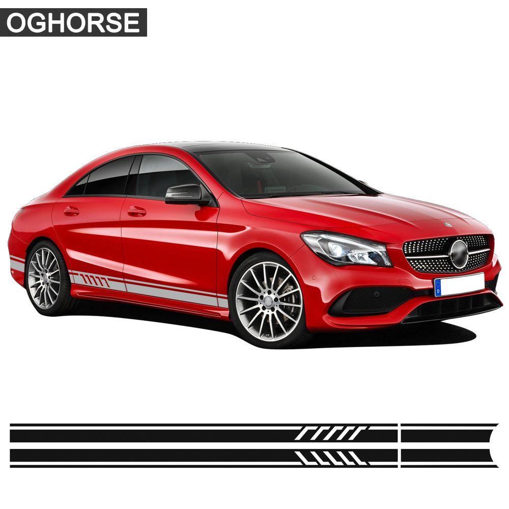 Édition 1 autocollant de décalcomanie de jupe à rayures latérales de porte de course pour Mercedes Benz CLA classe CLA45 AMG W117 C117 X117 W176 CLA200 CLA250