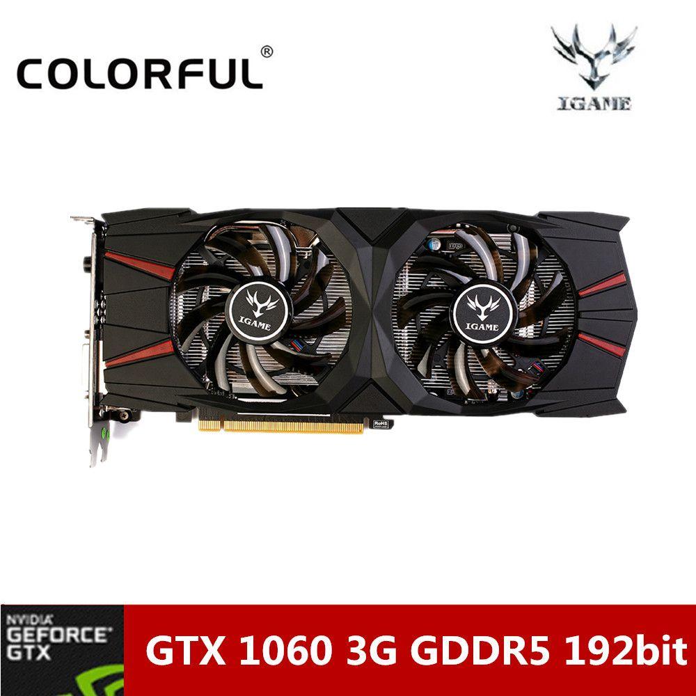 Bunte NVIDIA GeForce GTX 1060 3G Computer-spiel-grafikkarte 8008 MHz GDDR5 16nm 192bit Grafikkarte Mit Dual Fans für Desktop