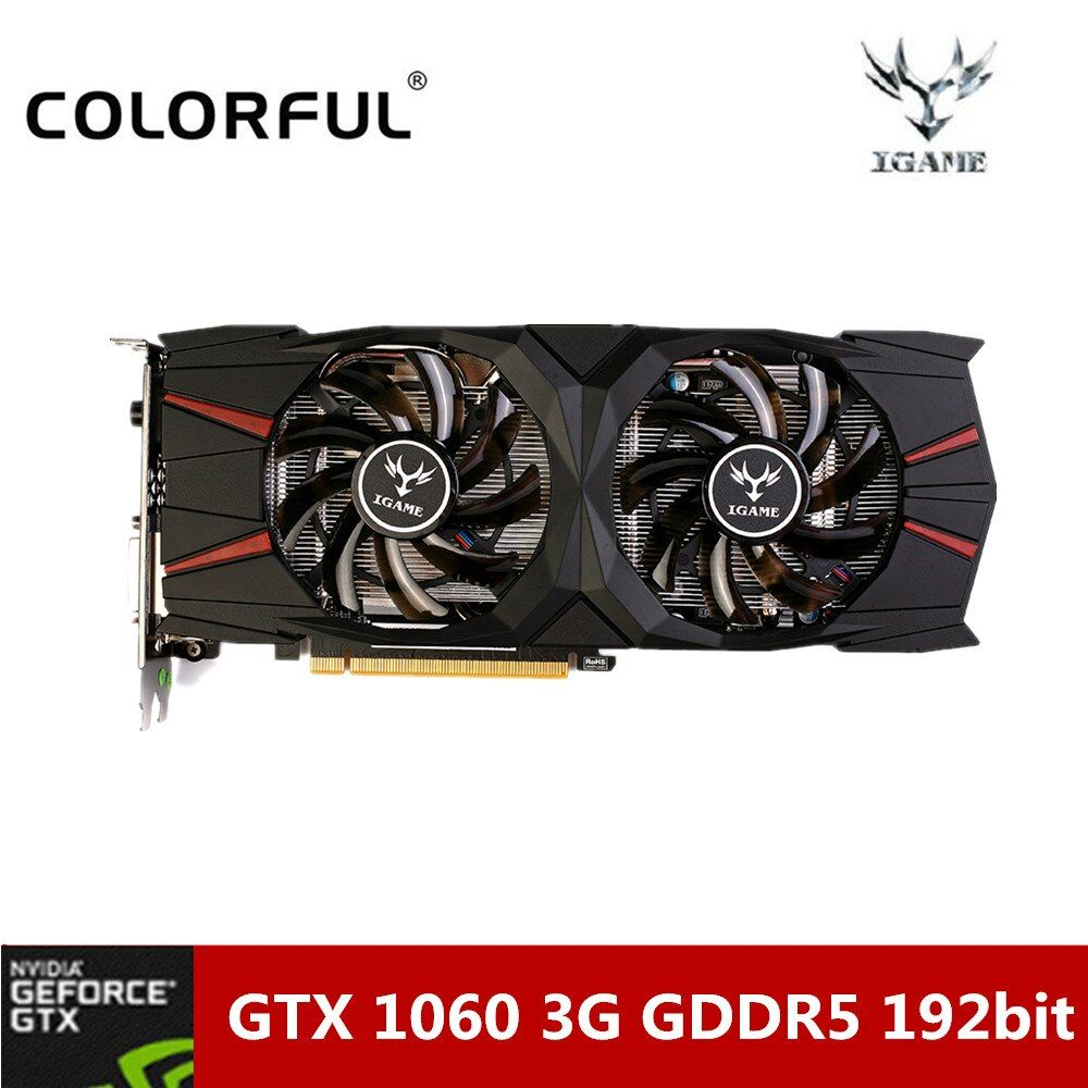 Colorful NVIDIA GeForce GTX 1060 3G Gaming Graphics Card 8008MHz GDDR5 16nm 192bit Video Card With Dual Fans For Desktop