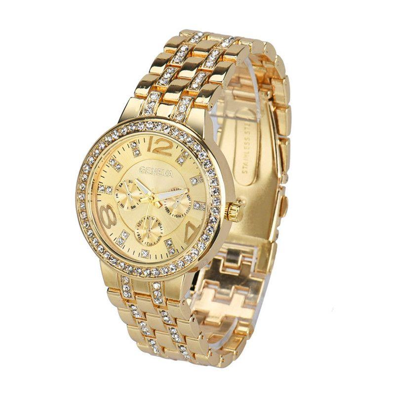 female watch male luxury Fashion Exquisite Luxury Crystal Quartz Rhinestone Crystal Wrist Watch relogio Reloj clock P*21