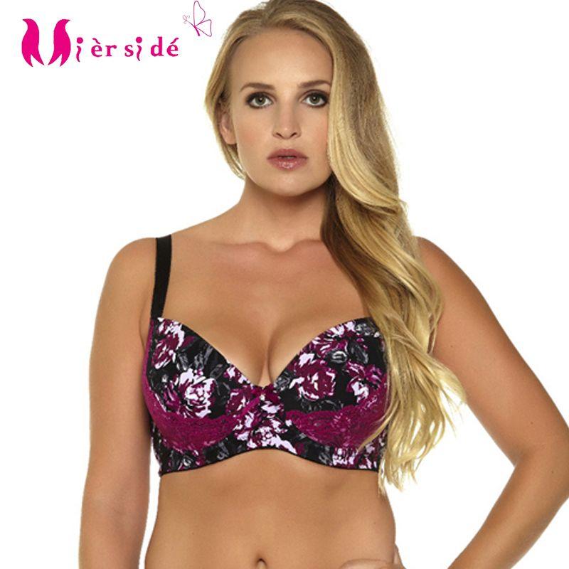 Mierside 955 6Color Plus size Large Brassiere Stitching underwire bra Bralette Women Underwear Sexy lingerie 32-46D/DD/DDD/F/G
