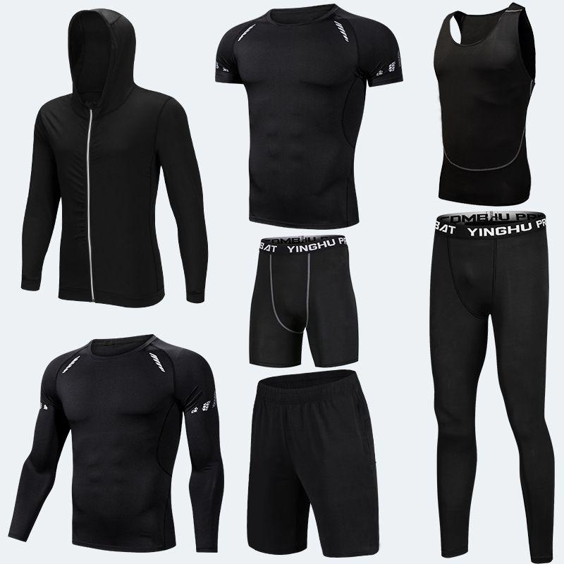 Running Training Kleidung Männer 7 teile/sätze Kompression Läuft Sets Basketball Jogging Strumpfhosen Unterwäsche Set Gym Fitness Sport Anzüge