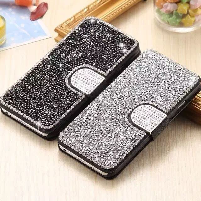 20PCS Sumgo For iPhone 6 6s 7 8 Plus X Phone Case Fashion Diamond Leather Flip Case Soft TPU Phone Case For iPhone 8