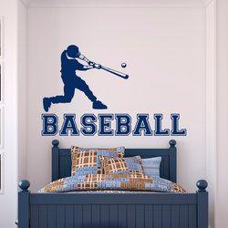 Baseball Pemain Dinding Vinyl Stiker Dinding Decal Gym Olahraga Untuk Anak Laki-laki kamar tidur Remaja Anak-anak Kamar Universitas Wall Art Home Decor Mural A89