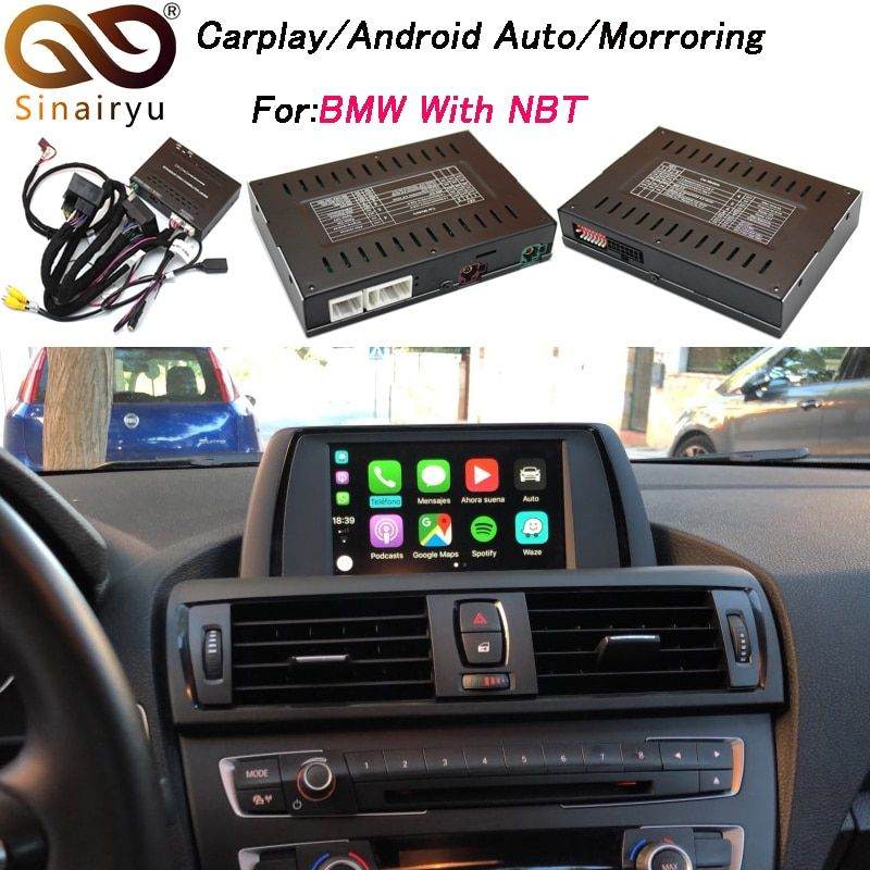 2019 neue IOS Mirrorlink Auto Apple Airplay Android Auto CarPlay Box Für BMW 1 2 3 4 5 7 Serie x3 X4 X5 X6 MINI NBT OS