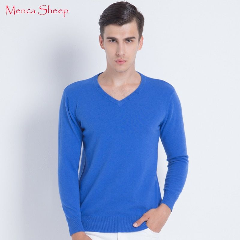 New Arrival Man Sweaters 100% Cashmere and Wool Knitwear Hot Sale Vneck Pullovers for Male Clothes High Soft and Quality Jumpers
