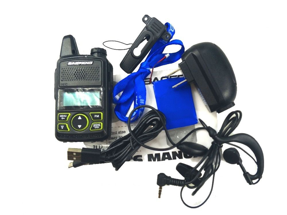 D'origine BAOFENG T1 MINI Two Way Radio BF-T1 Talkie Walkie UHF 400-470 mhz 20CH Portable Jambon FM CB Radio Émetteur-Récepteur De Poche