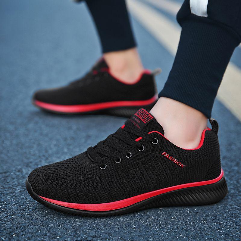 LSYSAG Sneakers hommes chaussures de course à lacets athlétique respirant formateurs Zapatillas Sports hommes chaussures de marche en plein air