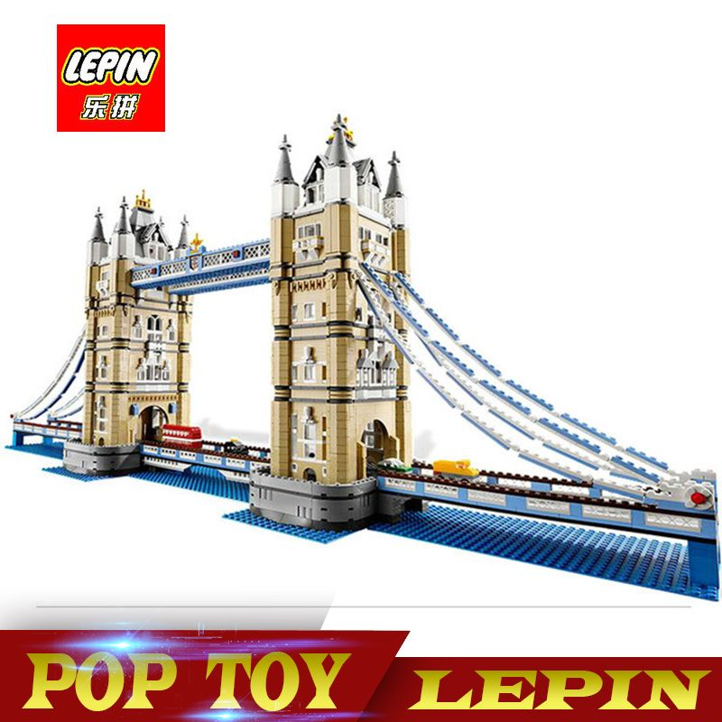DHL Lepin 17004 4295Pcs Creator Expert London Tower Bridge Model Building Blocks BricksToys Gift Compatible legoed 10214