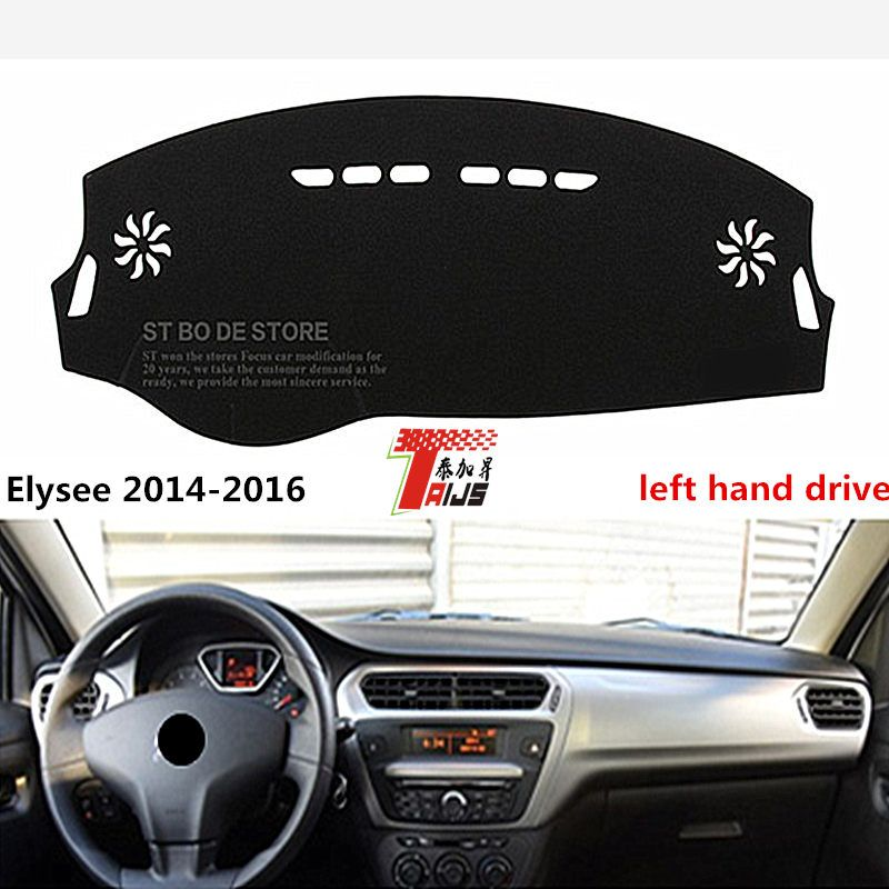 TAIJS New ARRIVAL  car dashboard pad cover  left hand drive for Citroen Elysee 2014-2016 lucifuge cover  for Citroen