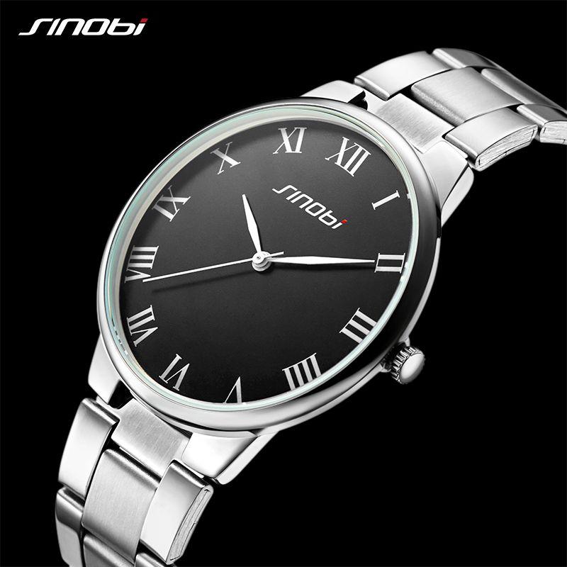 SINOBI watch men fashion luxury watch Reloj Mujer Stainless Steel Quality gentleman Ladies Quartz Watch Couple watches