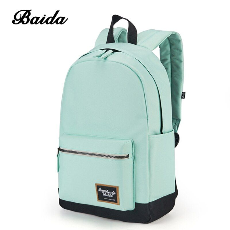 2018 Fashion Backpack for Women Leisure Trip Rucksacks Back Pack for Girls Teenager Contrast Color <font><b>Laptop</b></font> Bagpack School Bags