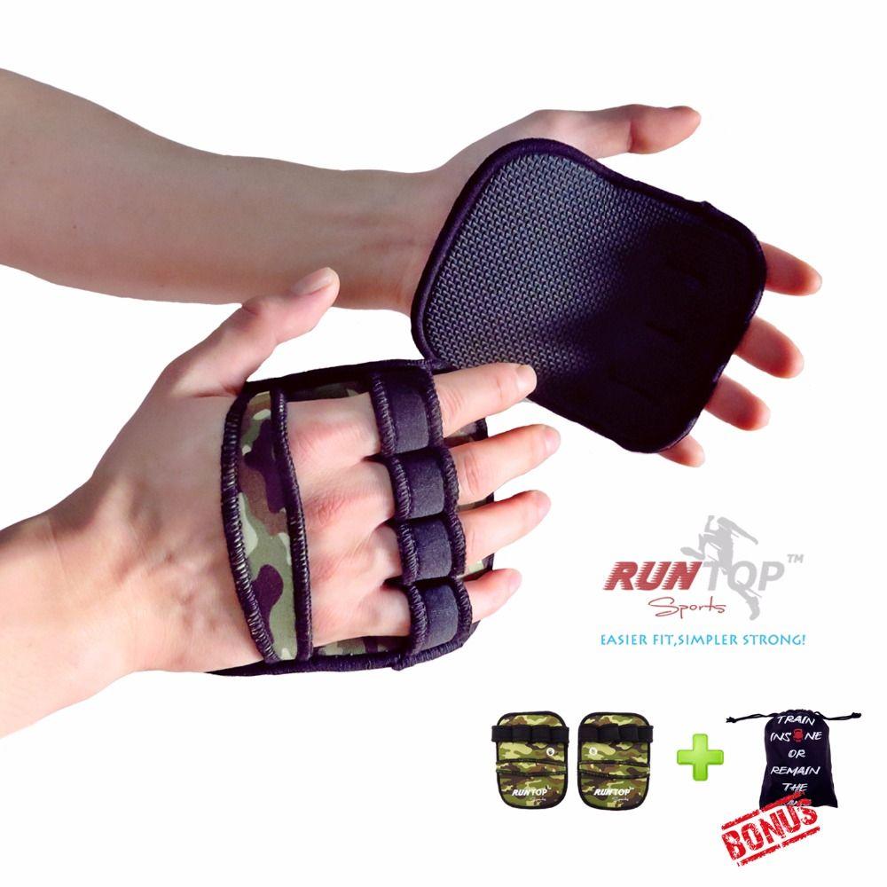 RUNTOP 6mm haltérophilie tirer vers le haut des coussinets de poignée gants Crossfit entraînement GYM entraînement exercice Fitness Powerlifting paume main protéger
