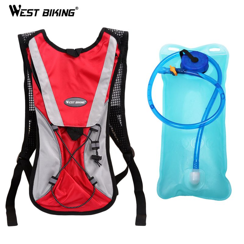 WEST BKING 2L TPU Bicycle Cycling Climbing Camping Hiking Outdoor Sports Mouth Water Bladder Pack Backpack Bag Hydration