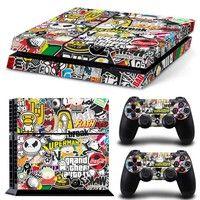 Bomba Graffiti para PS4 vinilo etiqueta engomada de la piel de la cubierta para PS4 consola Playstation 4 + 2 controlador calcomanía accesorios de juego