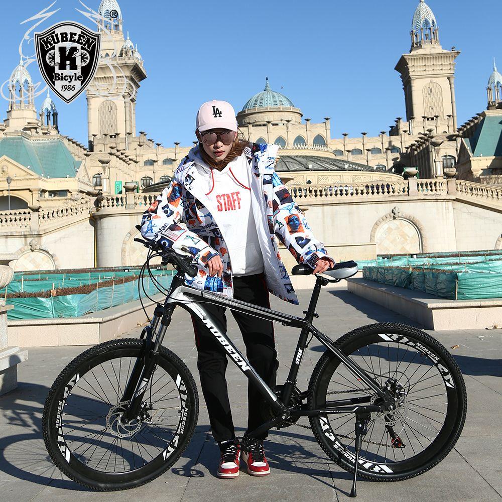 Qualité supérieure 26 pouces vélo en acier 21 vitesse cadre en aluminium VTT planche à roulettes pédale d'huile ressort amortisseur à double disque soutien-gorge
