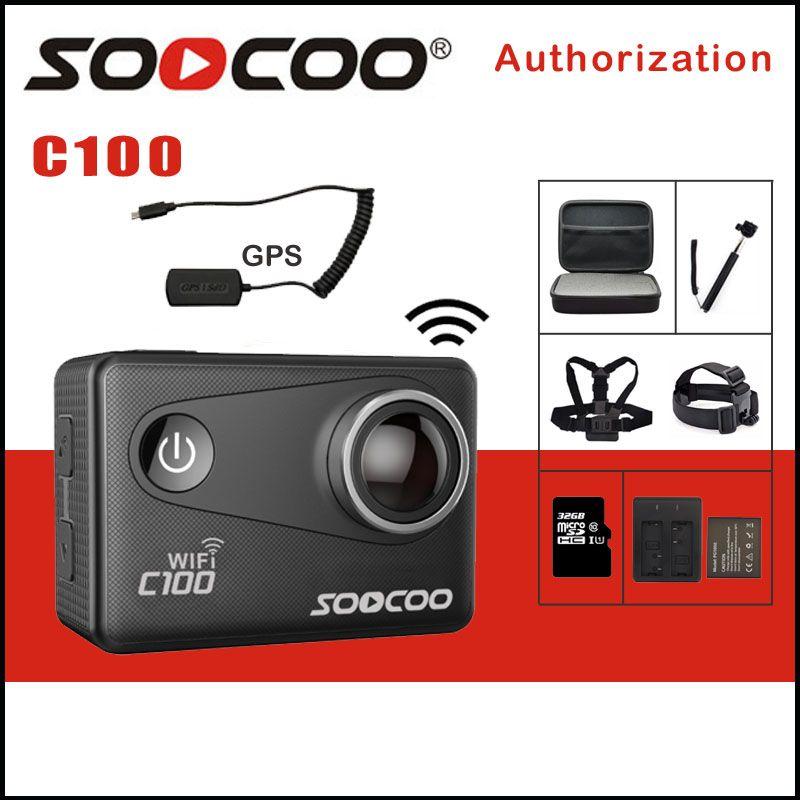 SOOCOO C100 4K WIFI Video Sports Camera Outdoor Action Camera Wifi Ultra HD Waterproof DV Camcorder 12MP 170 Degree Option GPS