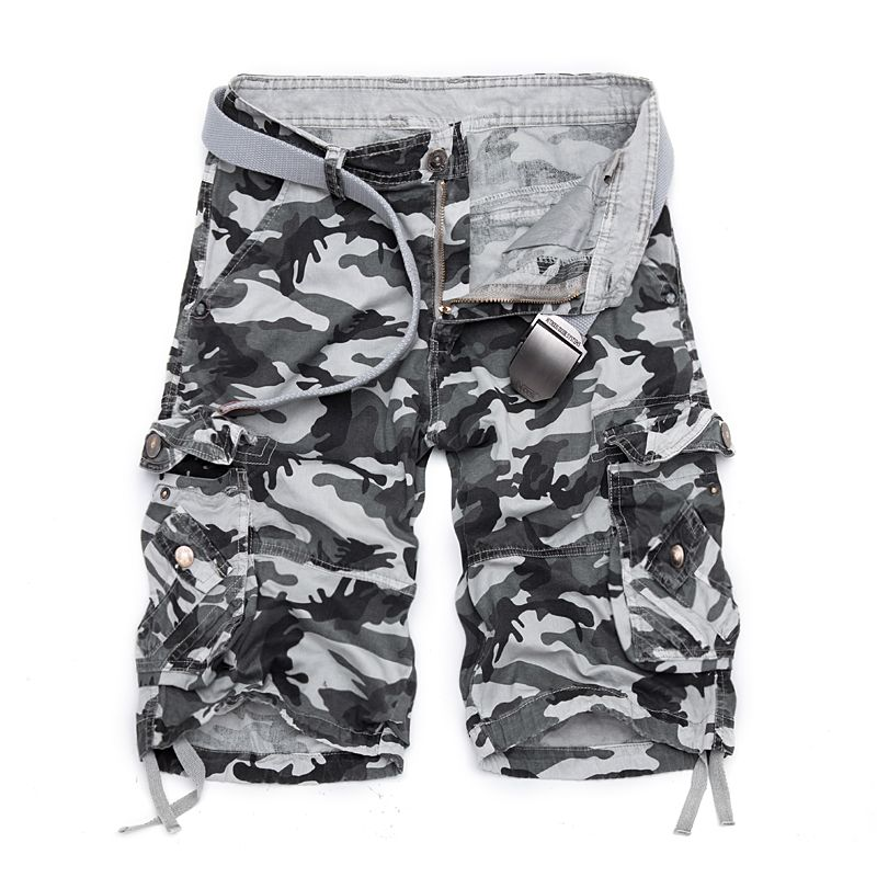 2018 New Summer Shorts Lâche Mi Coton Bermudes Masculina Pour Plage Hommes Casual fitness/Camo Cargo Camouflage Shorts Taille 40