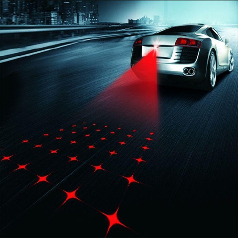 Car Anti-collision Laser Fog Light Auto Anti-fog Parking Stop Braking Signal Indicators Motorcycle LED Warning Light Car-Styling