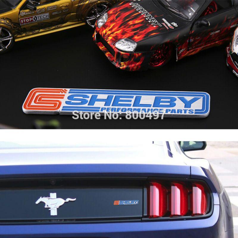 Le plus récent emblème de coffre de voiture en alliage d'aluminium 3D pour Mustang GT Shelby accessoires de voiture adhésif Logo de voiture Badge de style de voiture