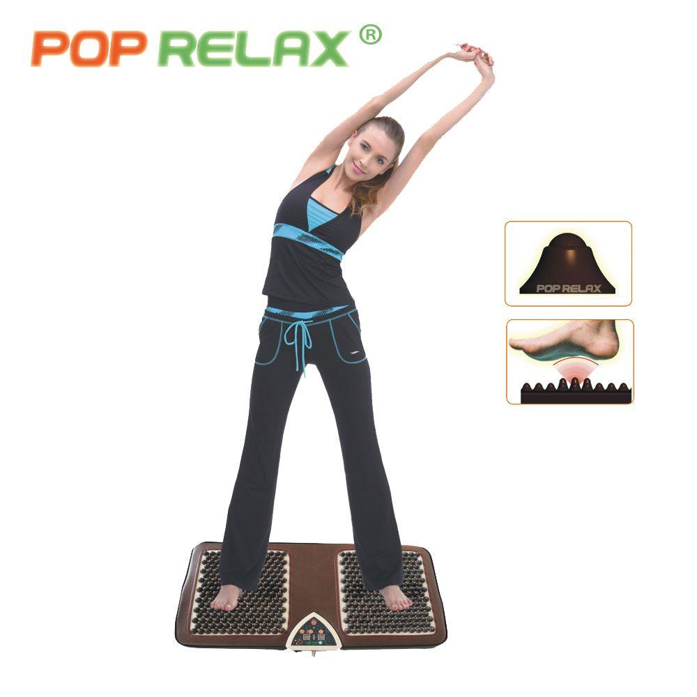 POP RELAX NUGA MEILLEUR NM55 tourmaline germanium pied arc acupuncture tapis de massage deuxième coeur chauffage électrique massage des pieds F01B