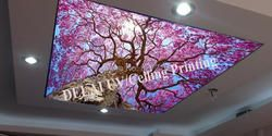 T-2016 berry printing ceiling film with led strip for ceiling decoration function as ceiling tiles