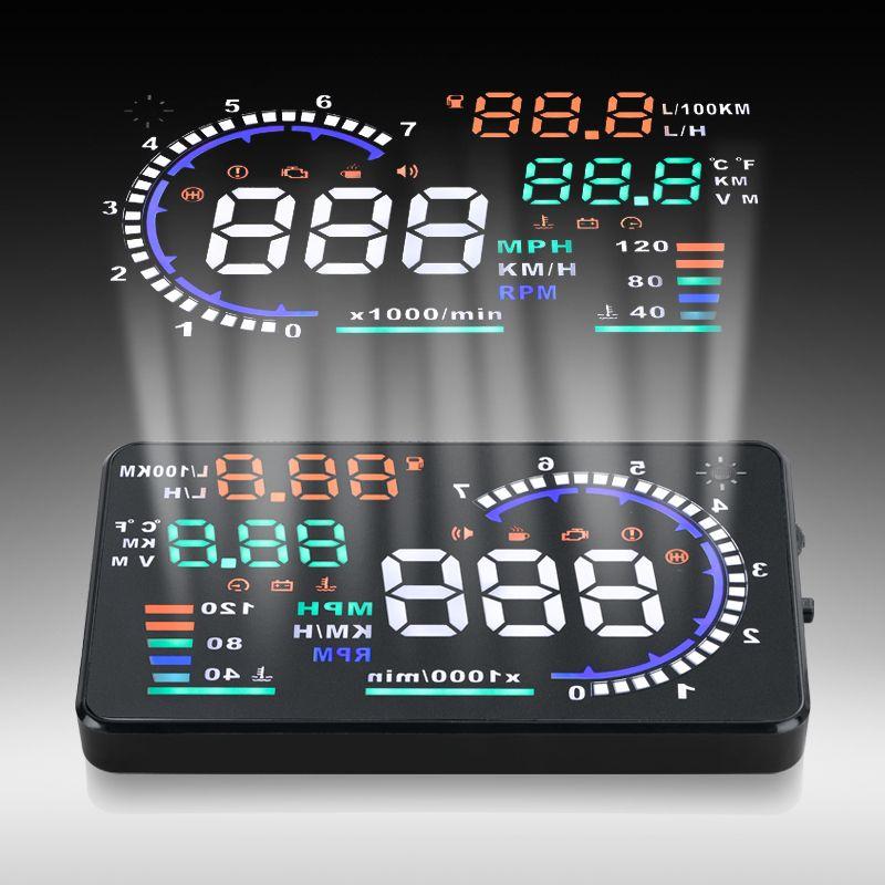 Car-styling Digital car speedometer OBD2 A8 5.5