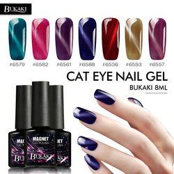 Bukaki Bahasa Perancis Manicure Berlian Cat Eye Nail Gel Uv Gel Pernis Magnetik Lem Kuku Nail Art Gel Lacquer 28 warna