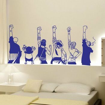 One piece stick bedroom room adornment wall Animated cartoon wallpaper paste Wall stickers