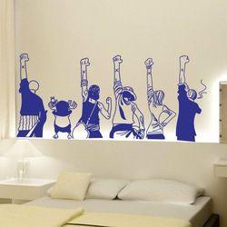 Salah Satu Bagian Tongkat Kamar Tidur Hiasan Dinding Kartun Animasi Wallpaper Pasta Stiker Dinding