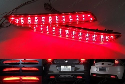 CYAN SOIL BAY LED Bumper Reflector Tail Brake Light Fog For Acura TSX Wagon Insight 2010-12 For Honda CR-Z ZF1 CR-V STEPWGN RG