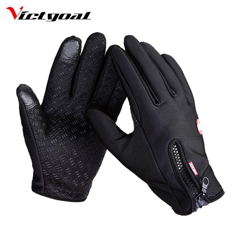 VICTGOAL Windproof Cycling Gloves Full Finger Touch Screen Men Women Glove MTB Bike Motorcycle Waterproof Sports Gloves N1202