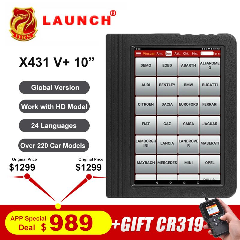 Starten X431 V plus X431 V + OBD2 Diagnose Scanner Automotive OBDII Auto Diagnose Werkzeug Auto Bluetooth Wifi Full System OBD 2