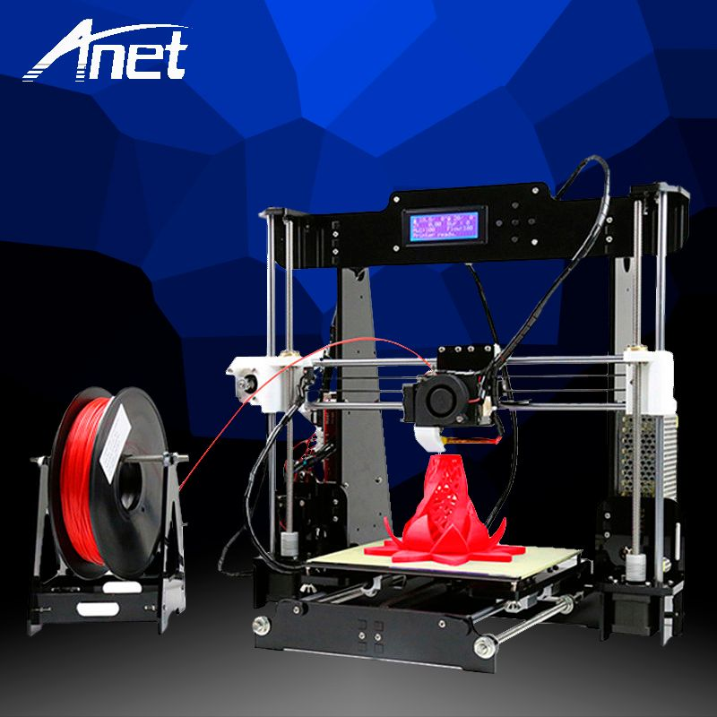 Anet A8 3D Printer High Precision Prusa i3 Reprap Easy Assembly DIY Kit Aluminum Hot Bed LCD Screen SD Card High Quality Printer