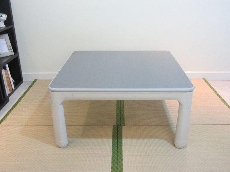 Japanischen Kotatsu Möbel Beine Klapp Reversible Top Weiß/grau Kleine Quadratische 75 cm für 1-2 Person Niedrigen beheizte Asiatischen Niedrigen Tisch