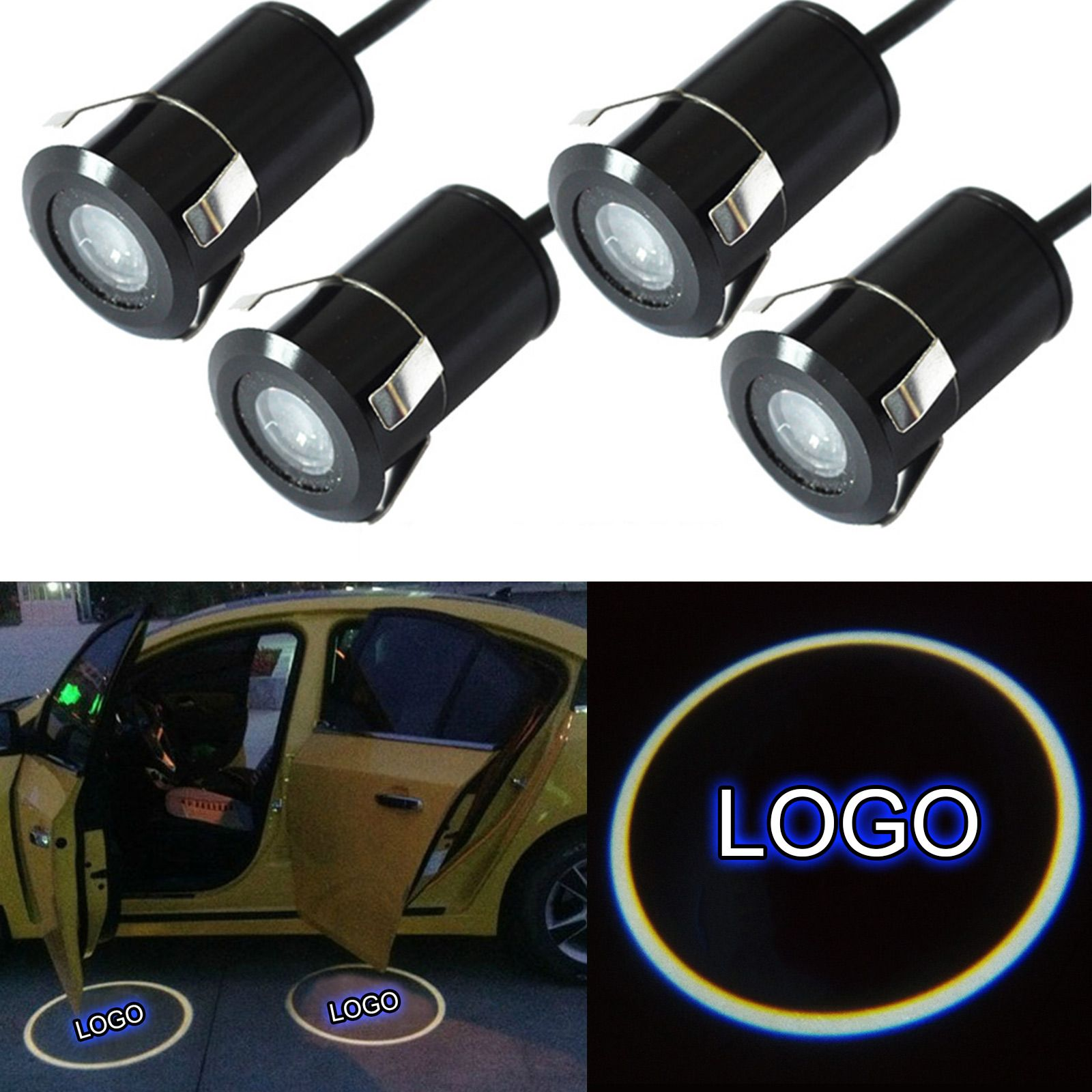 1pair Car Auto LED Laser Logo Step Lamps Ghost Shadow Courtesy Door Light Projector CSL2017