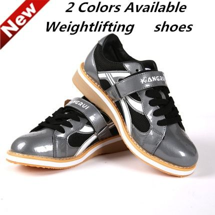 2016 New Professional Weightlifting Shoe Squat Training Leather Slip Resistant Weight lifting Shoes KWE231