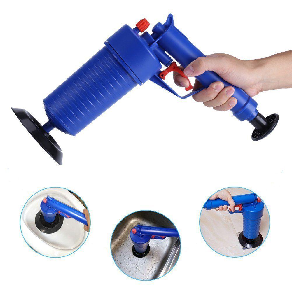 DF737Air Drain de puissance pistolet Blaster haute pression puissant manuel évier plongeur ouvre pompe de nettoyage pour bain toilettes salle de bains douche