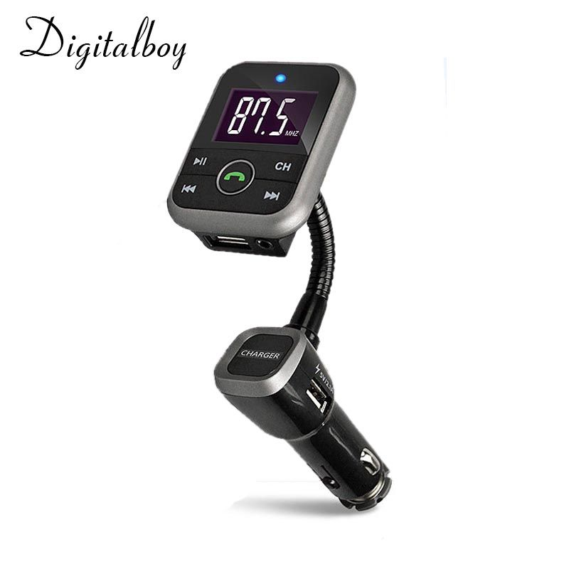 Digitalboy Bluetooth Kit Car FM Transmitter With USB Charger Car MP3 Player Support USB SD TF Card Wireless Handsfree